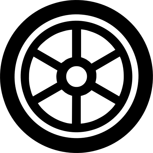 圆形汽车车轮矢量logo图标