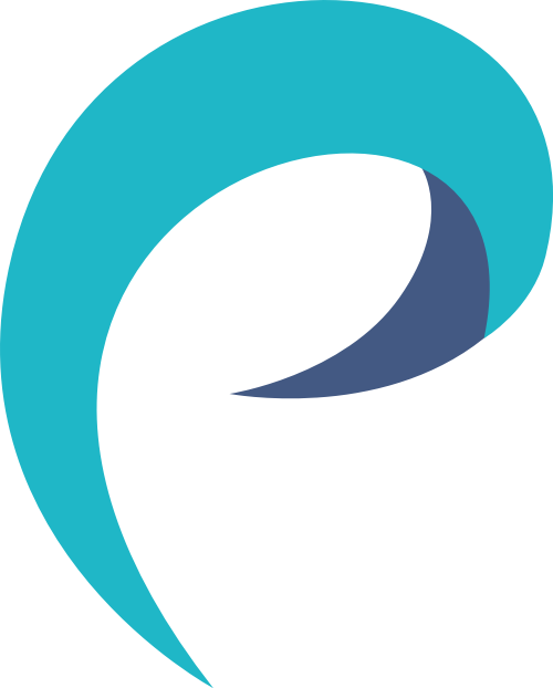 蓝色极简字母P矢量logo图标
