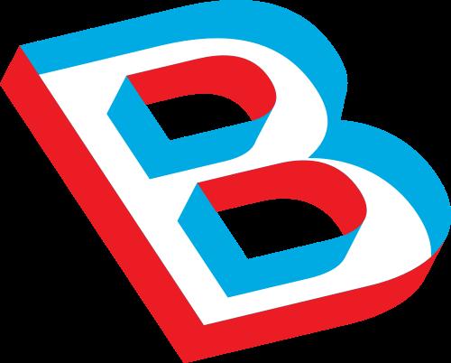 红蓝立体字母Blogo设计素材
