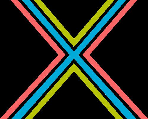 字母X三色矢量logo图片