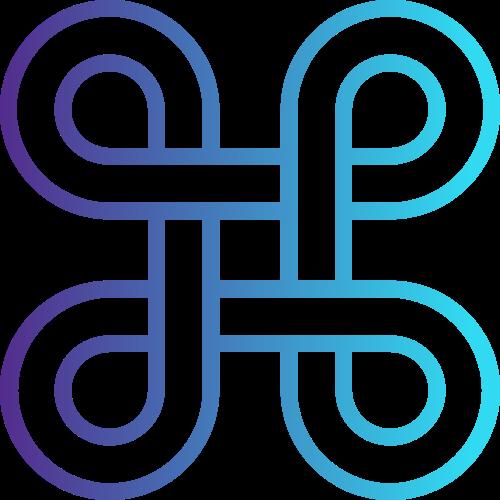蓝色渐变环形圆图案矢量logo图标