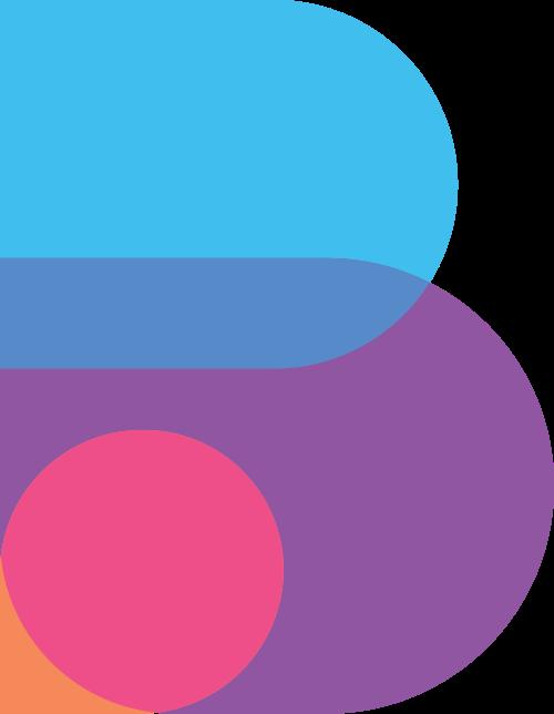 彩色创意抽象字母B矢量logo图片