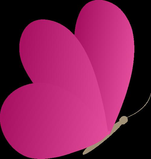 红色蝴蝶矢量logo图标
