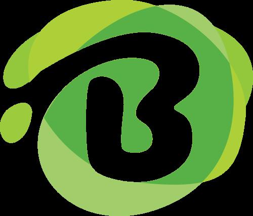绿色圆形字母B矢量标志图片