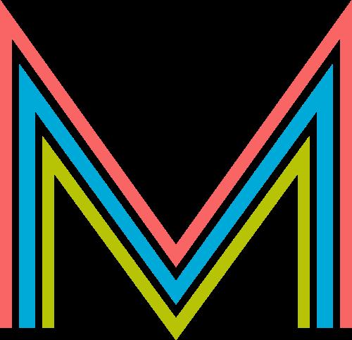 字母M三色logo设计素材