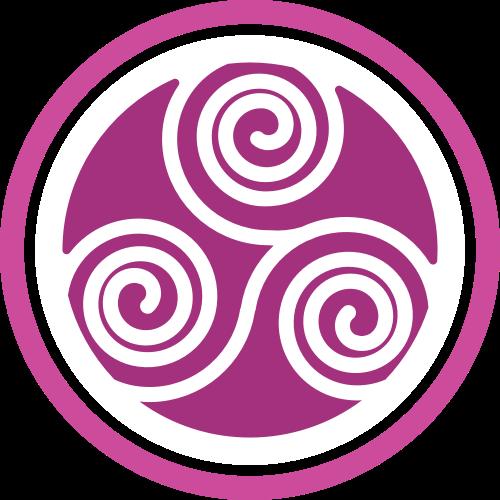 圆形紫色按摩休闲spa相关矢量图标