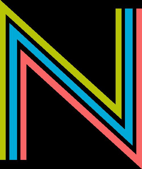 字母N三色logo素材图片