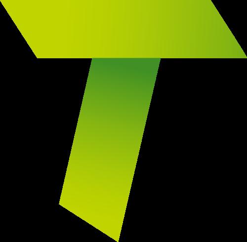 渐变绿色字母T矢量logo图片