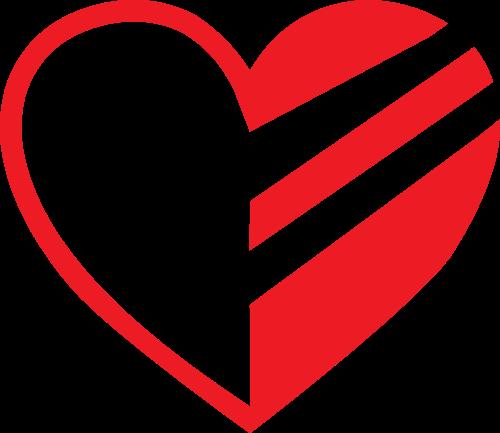 红色爱心矢量logo图标