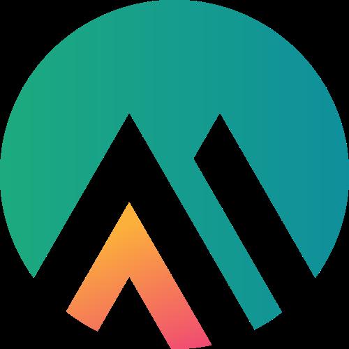 圆形三角几何山logo设计素材