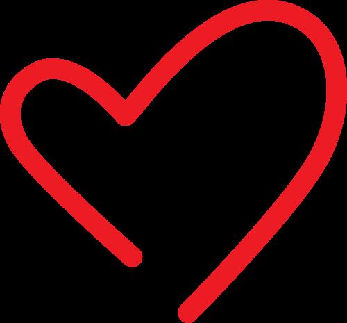 红色爱心线条矢量logo图标