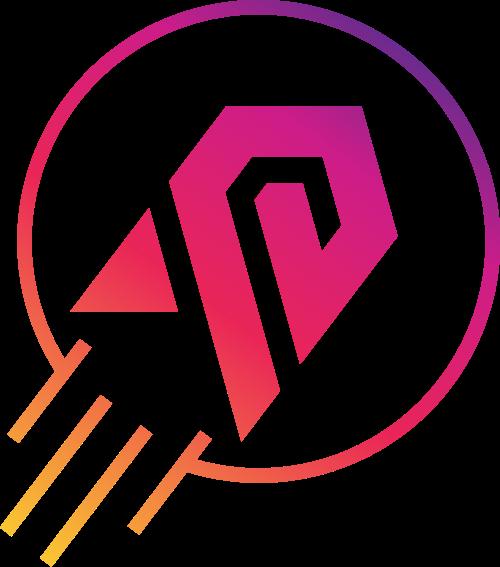 渐变火箭圆形logo设计素材