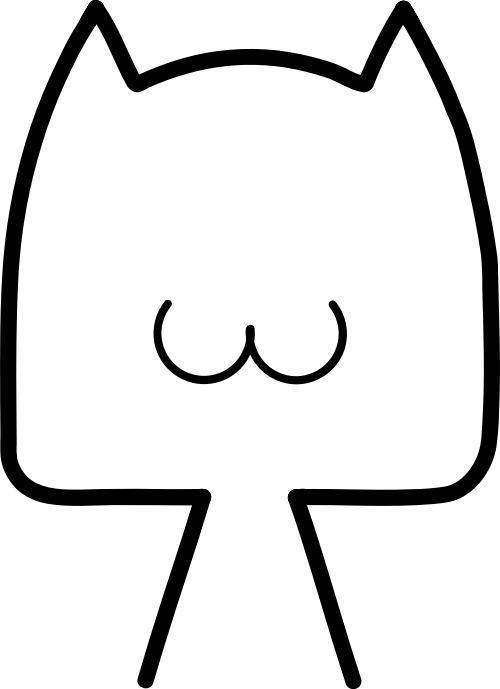 可爱线条小猫矢量logo素材