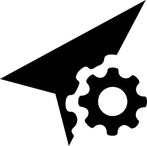 箭头齿轮制造业矢量标志图片