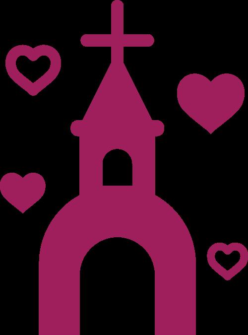 婚庆爱心礼堂矢量logo图标矢量logo