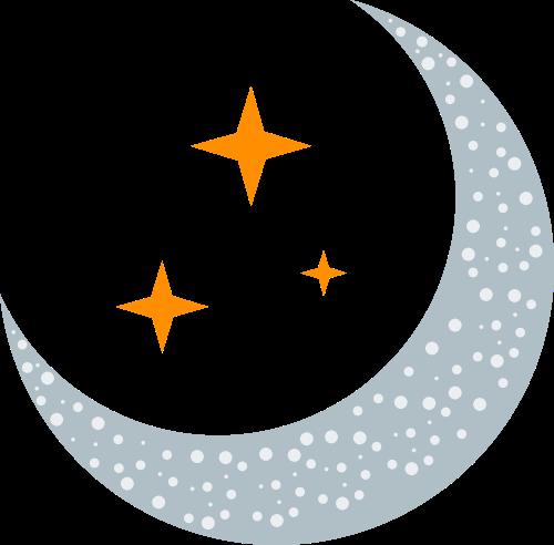 星星月亮矢量logo图标