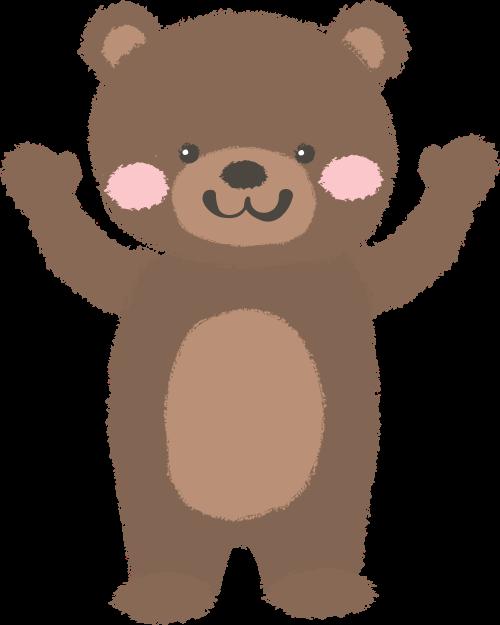卡通儿童棕色小熊矢量图标logo