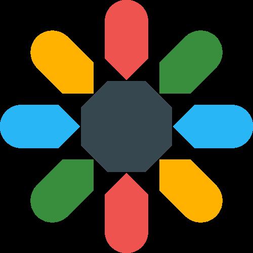 彩色花形儿童教育相关矢量logo图标