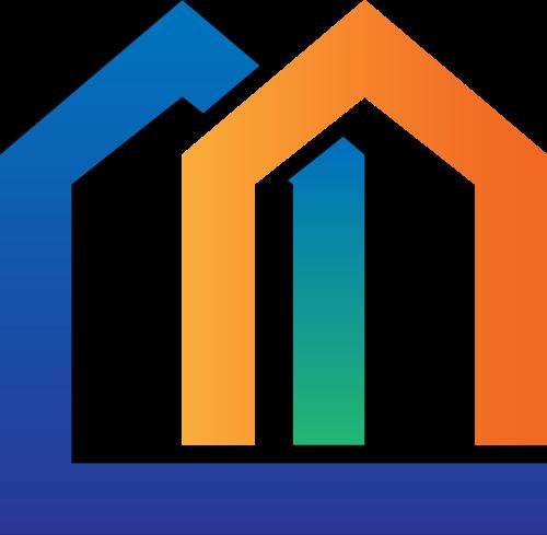 房屋建筑几何图形矢量logo图标