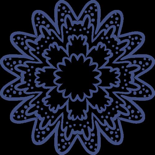 中国风剪纸圆点花形矢量logo图标
