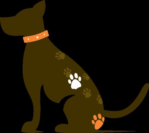 卡通宠物狗矢量图标素材