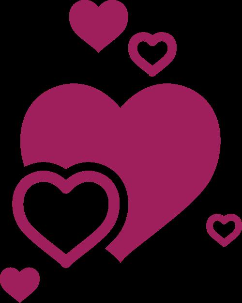 婚庆交友恋爱爱心矢量logo图标