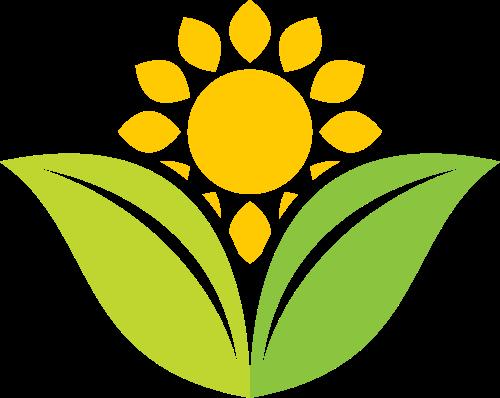 绿色农作物向日葵小草矢量标志图片