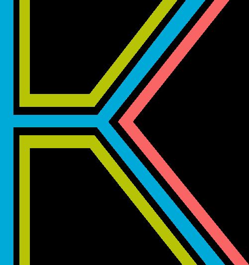 字母K三色矢量logo图片