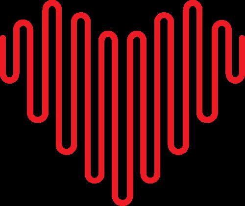 红色线条爱心logo设计素材矢量logo