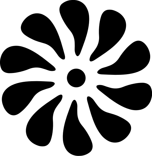 花朵向日葵矢量logo图标