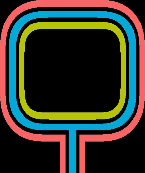 字母Q三色矢量logo图片
