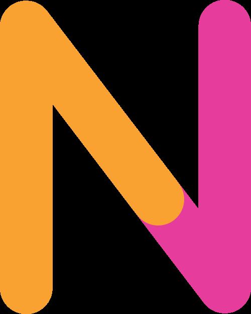 字母N双色logo素材图片
