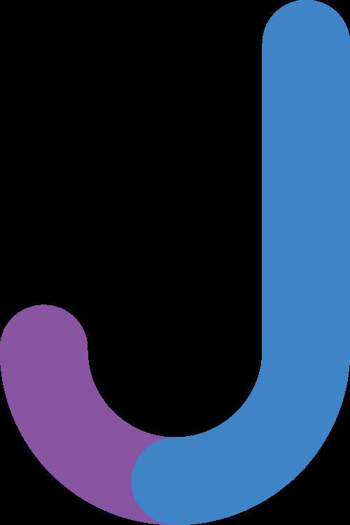 字母J双色矢量标志图片