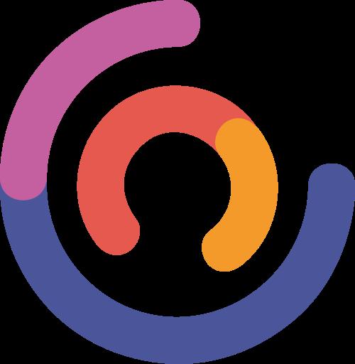彩色圆形矢量logo图标