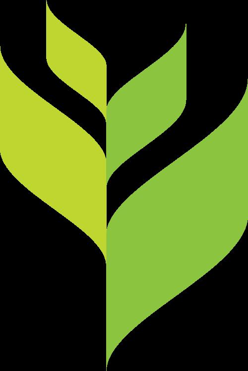 绿色稻谷叶子小草logo素材图片矢量logo