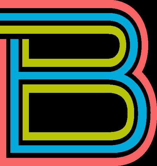 字母B三色logo设计素材