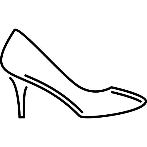 线条女性高跟鞋矢量logo图标