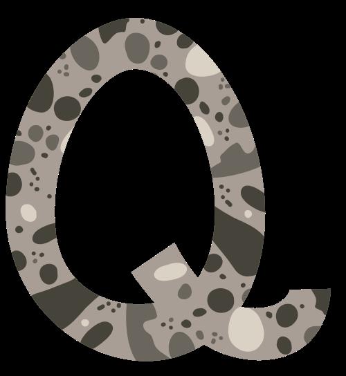 深褐色波点字母Q可爱动物矢量logo图片