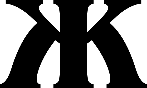 字母K简洁品牌标志素材