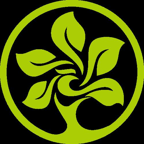 绿色圆形树木矢量LOGO素材