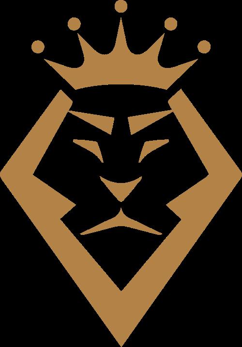 金色狮子皇冠品牌商标素材