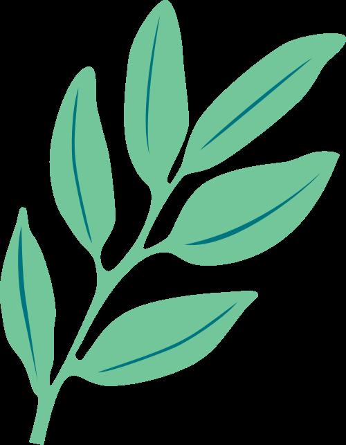 绿叶枝芽矢量logo图标