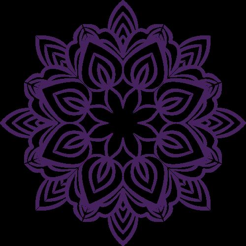 手工艺紫色剪纸矢量logo图标