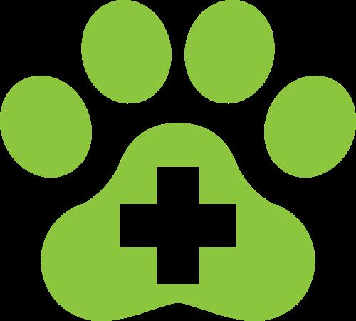 绿色动物宠物医疗救援相关矢量logo图片