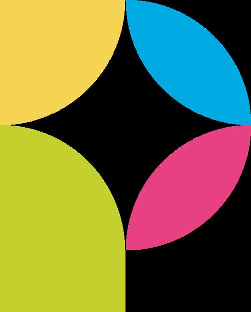 字母P多色块叶子形状矢量logo图片
