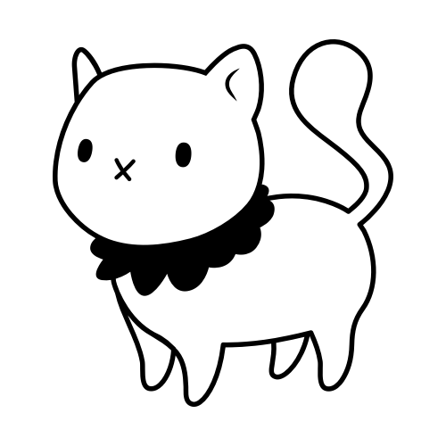 可爱小猫Logo素材