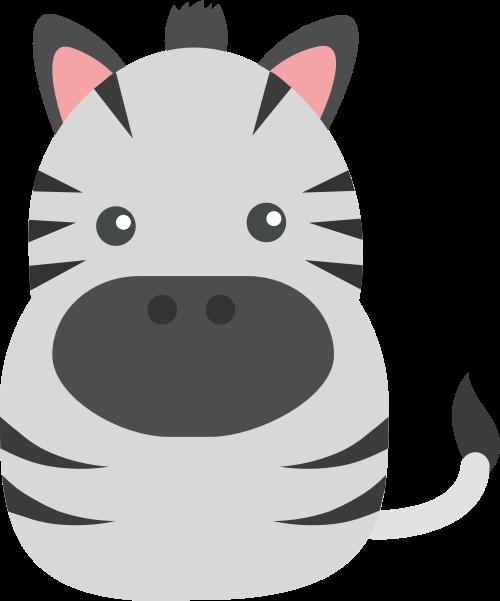卡通斑马矢量logo图标