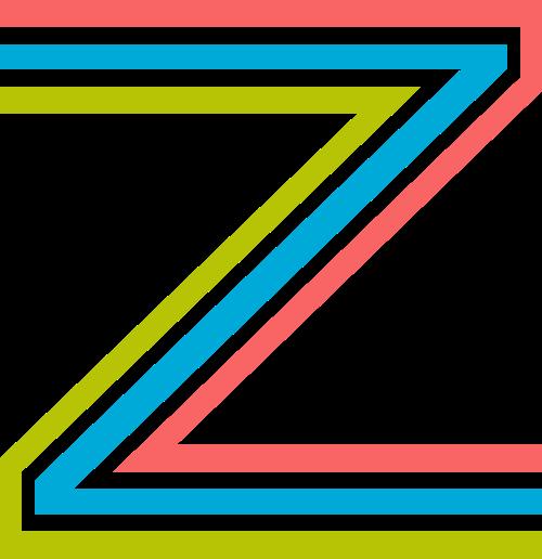 字母Z三色矢量标志图片