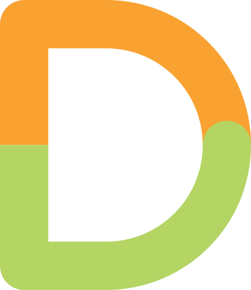 字母D双色矢量logo图片
