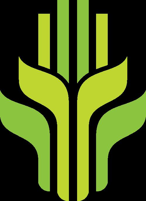 绿色麦穗叶子稻子矢量标志图片